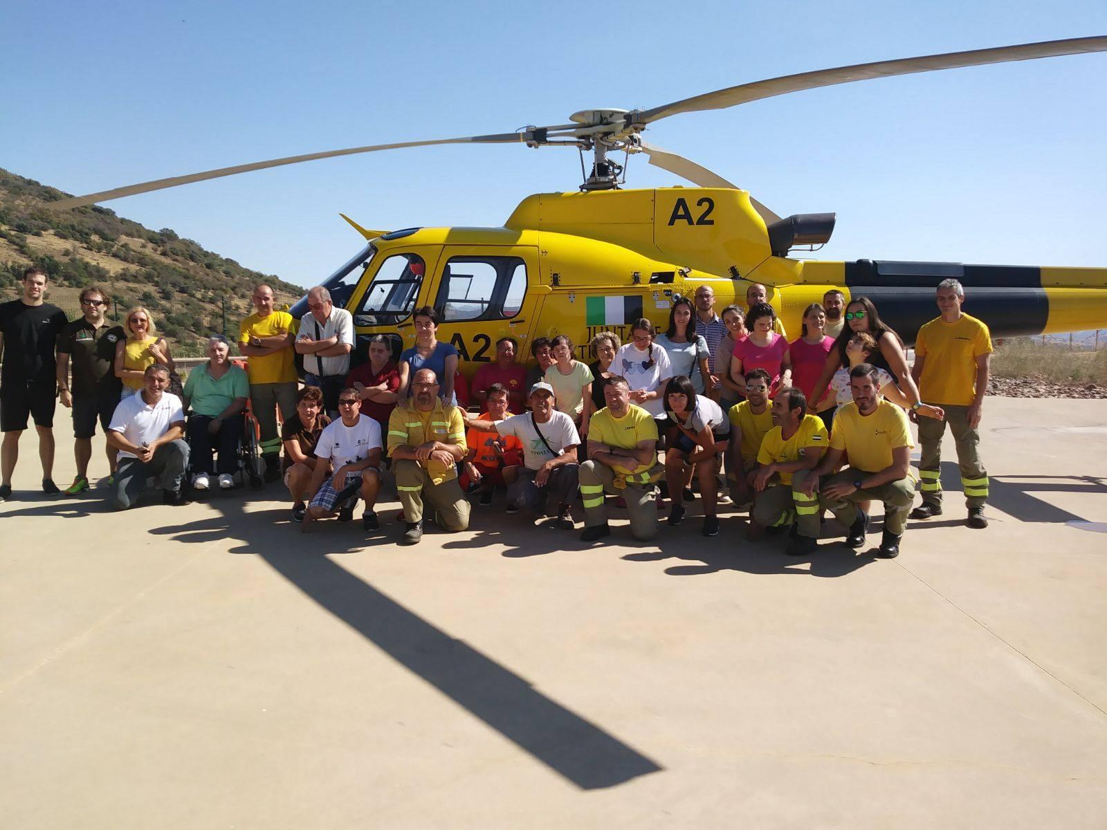Visita al Equipo de Salvamento del Plan Infoex de la Base de Guadalupe