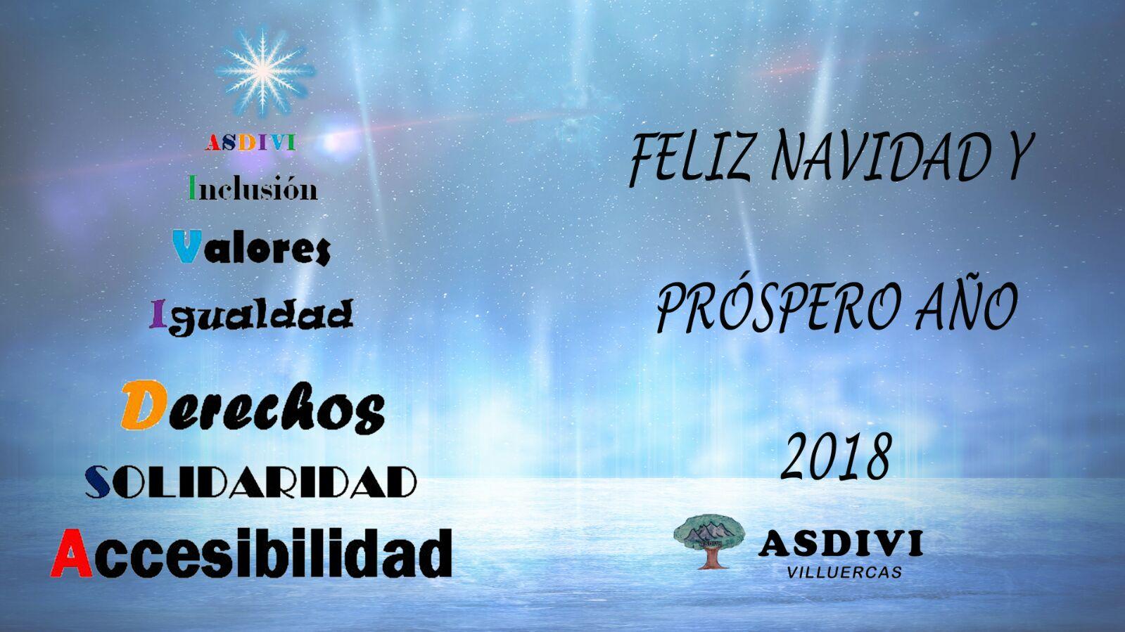 ASDIVI Villuercas os desea Feliz Navidad y Próspero Año 2018
