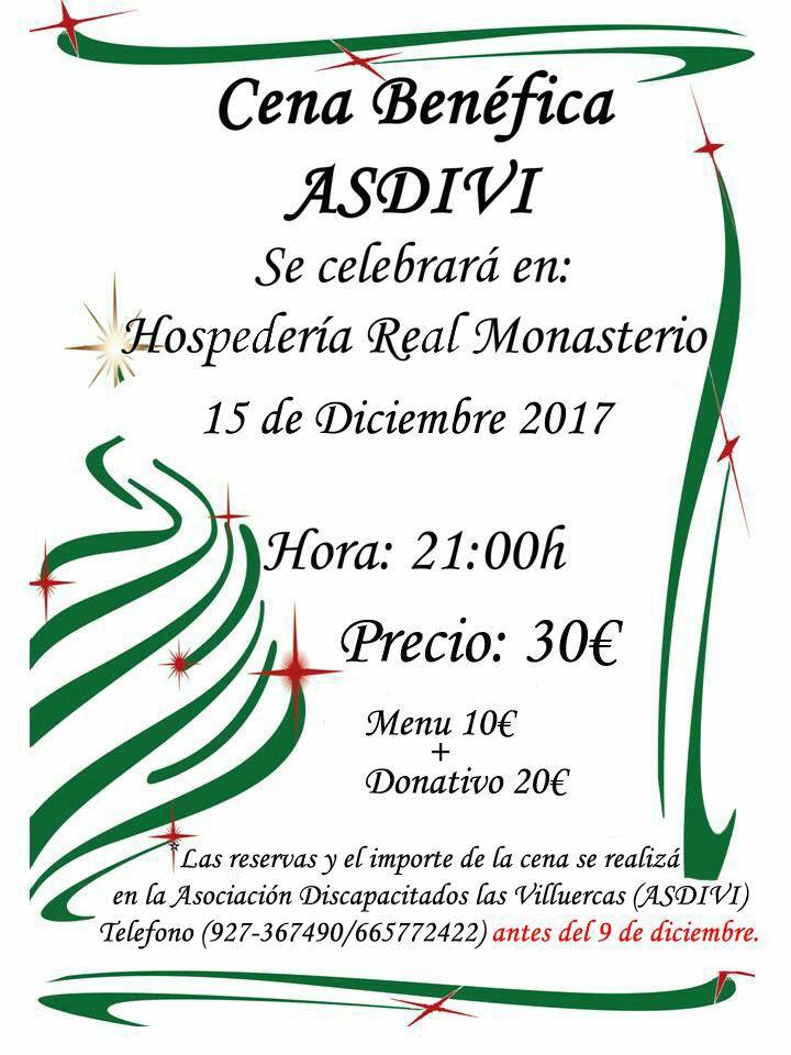Cena Benéfica de ASDIVI 2017