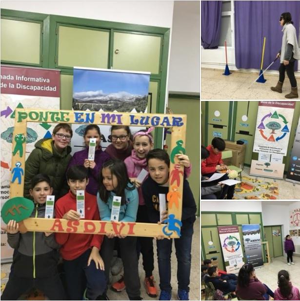 Campaña de sensibilización en el colegio CRA Montellanos 2018