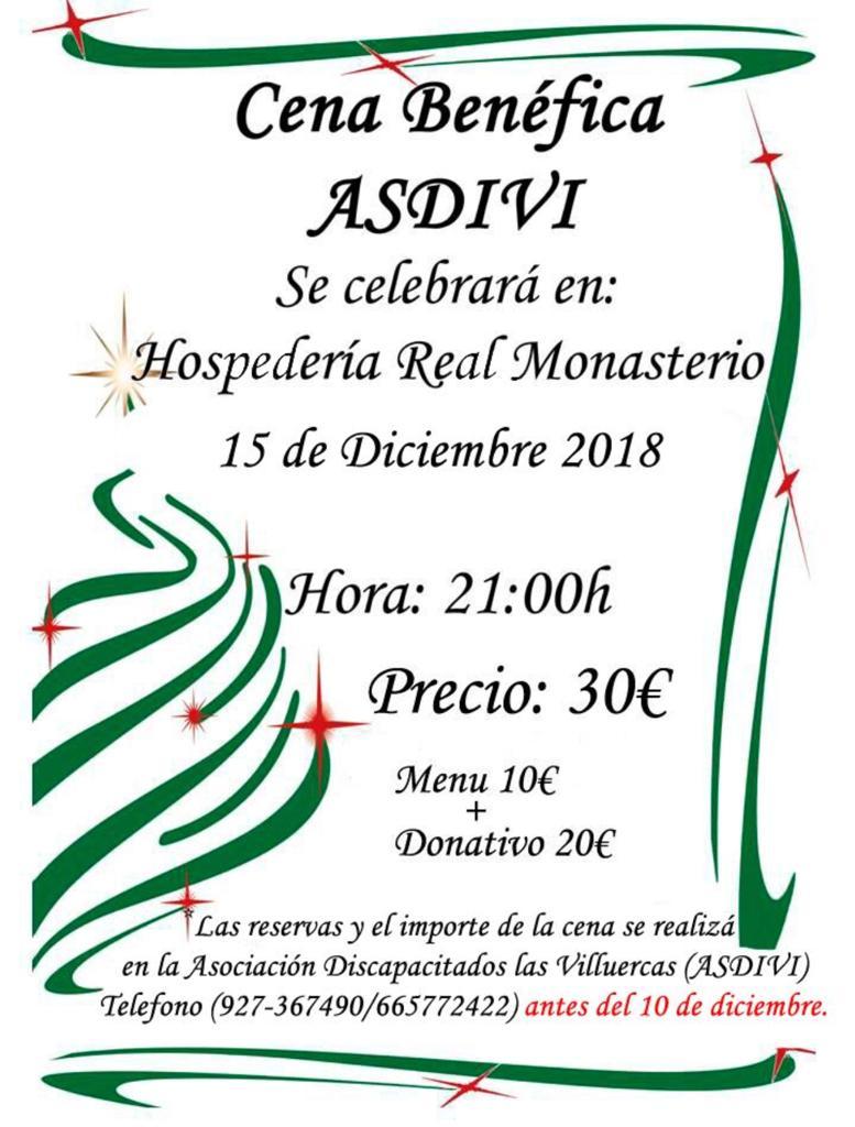 Cena benéfica ASDIVI 2018