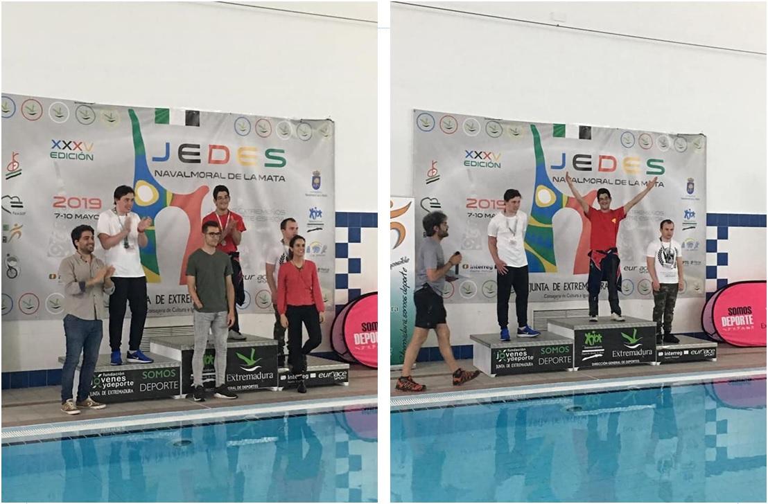 Medalla de oro en natación JEDES 2019