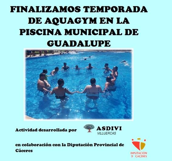 Finalizamos temporada de aquagym en la piscina municipal de Guadalupe 2019