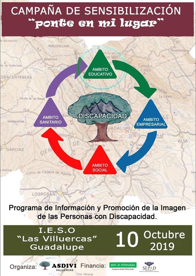 Campaña de sensibilización en el I.E.S.O. Las Villuercas 2019