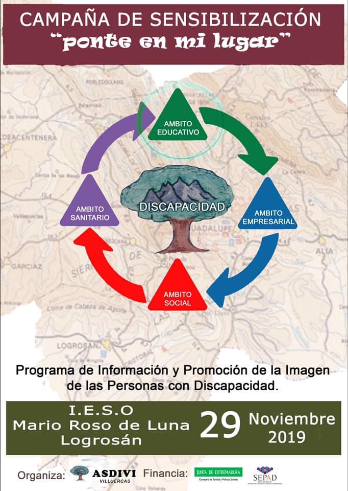 Campaña de sensibilización en el I.E.S.O. Mario Roso de Luna 2019