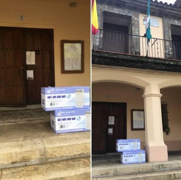 El Ayuntamiento de Guadalupe nos entrega dos purificadores de aire (2021)
